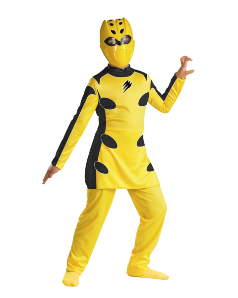 Jungle Fury Yellow Power Ranger Quality Costume For Child