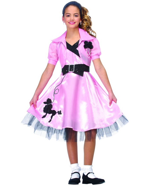 Girls Pink Hop Diva Costume