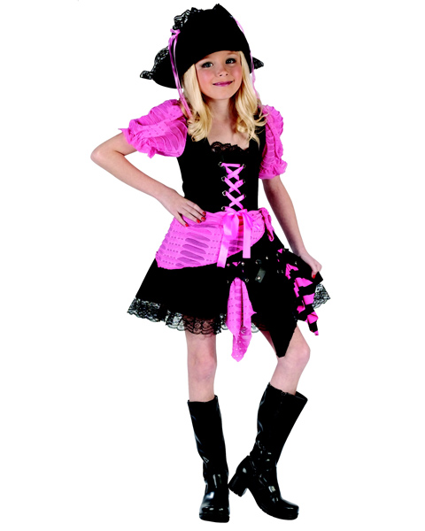 Chlid Pink Punk Pirate Costume