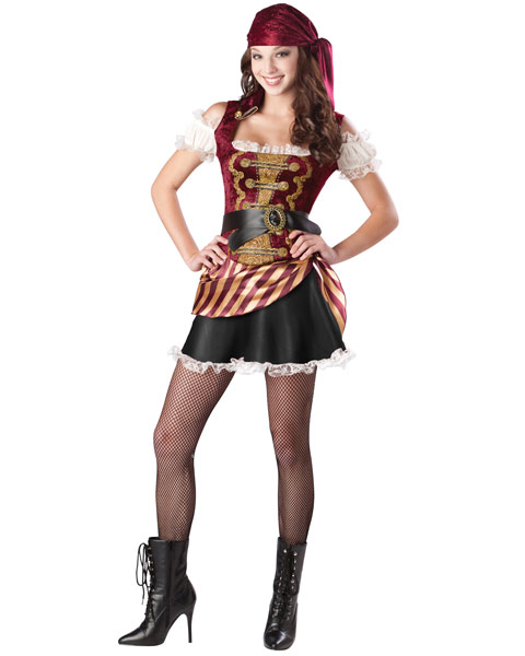 Teen Pirate Babe Girls Costume