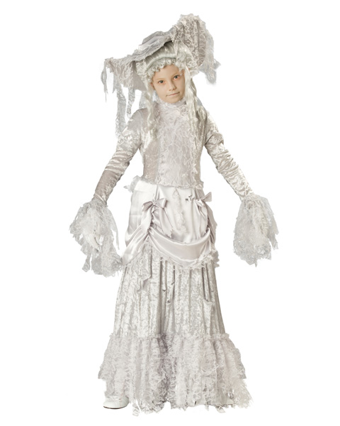 Deluxe Ghostly Lady Girls Costume