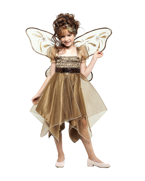 Child Metallic Copper Fairy