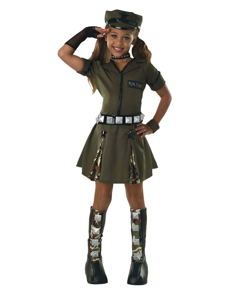 Kids Major Flirt Costume - Click Image to Close