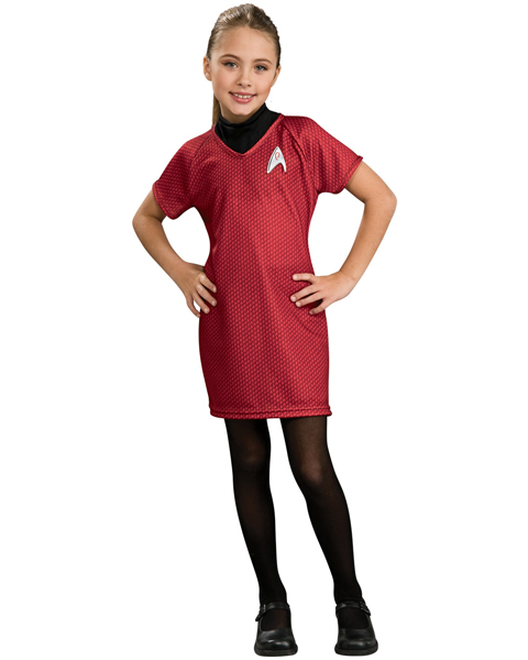 Star Trek The Movie Child Deluxe Red Dress