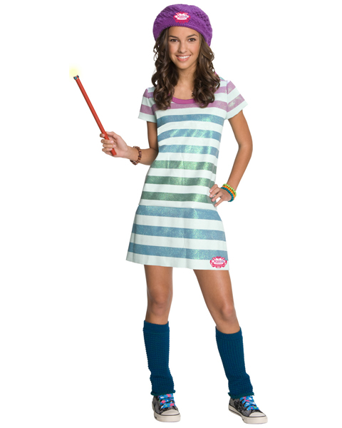 Childs Wizards of Waverly Place Alex Striped WitchCostume