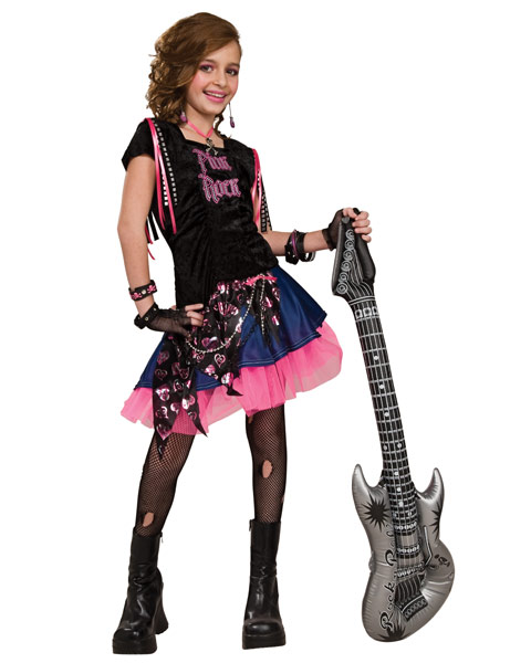 Pink Rock Girl Costume for Girls