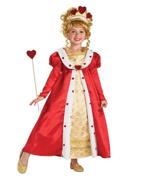 Red Heart Princess Costume for Girls