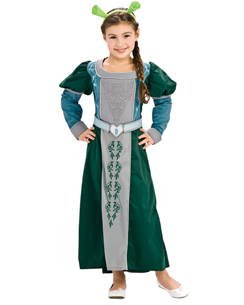Deluxe Shrek Fiona Girls Costume