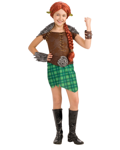 Deluxe Shrek Fiona Warrior Girls Costume