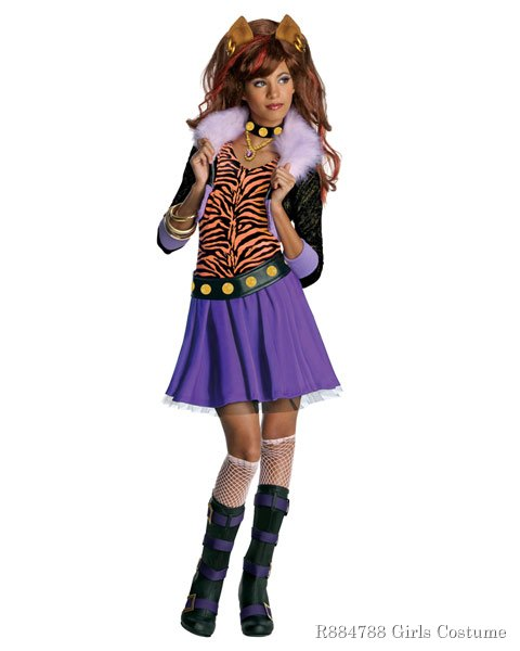 Clawdeen Wolf Monster High Costume for Girls
