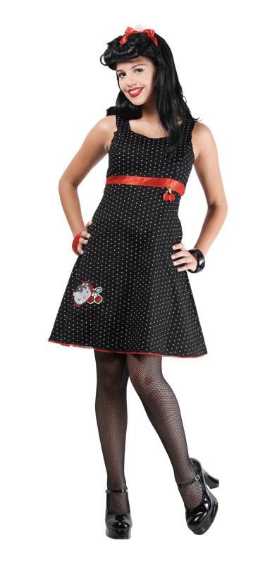 Hello Kitty Rockabilly Kitty Pre-Teen Costume