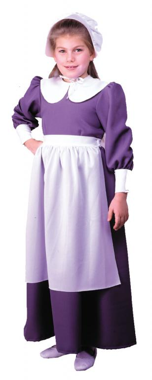 Pilgrim Girl Child Costume - Click Image to Close