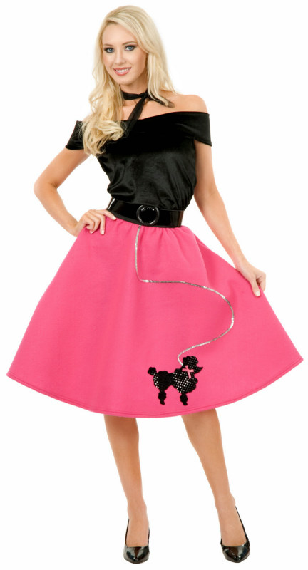 Pink Poodle Skirt Adult Plus Costume