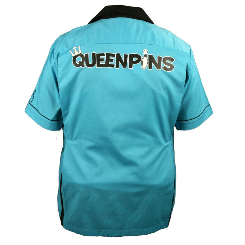 Queen Pin Classic Style Bowling Shirt Adult Costume
