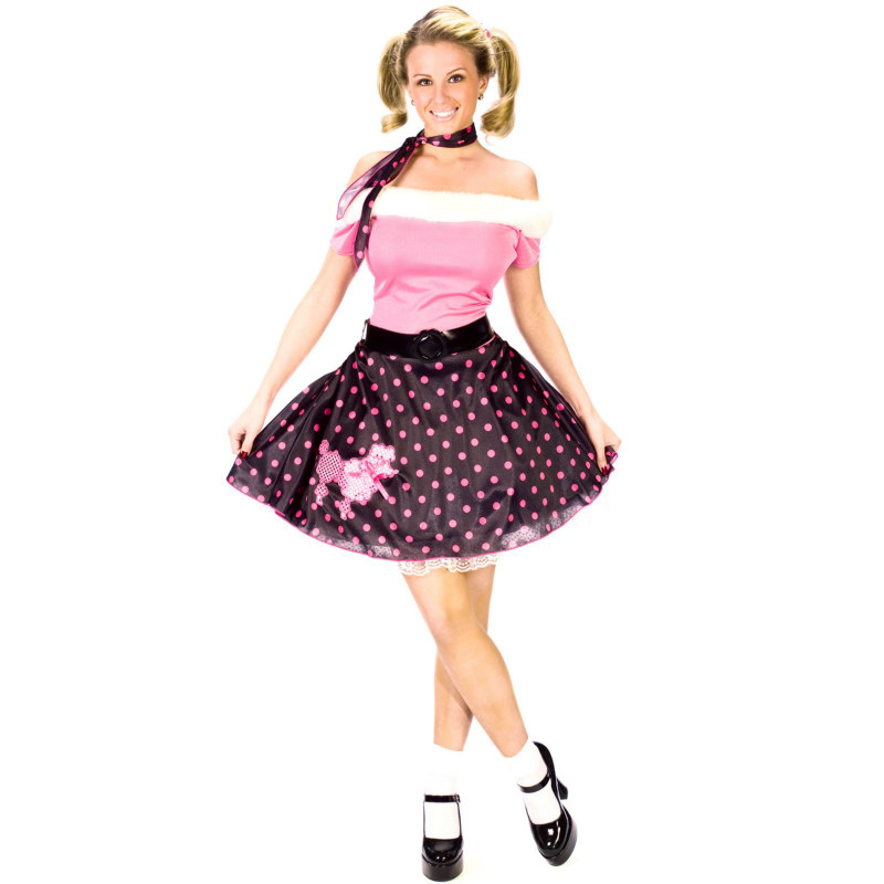 50's Poodle Dress Adult Costume