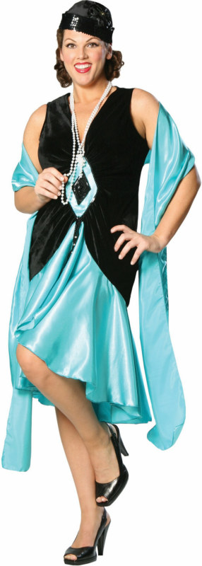 Puttin' on the Ritz - Teal Plus Adult Costume