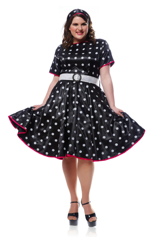 Hot '50s Plus Adult Costume - Black