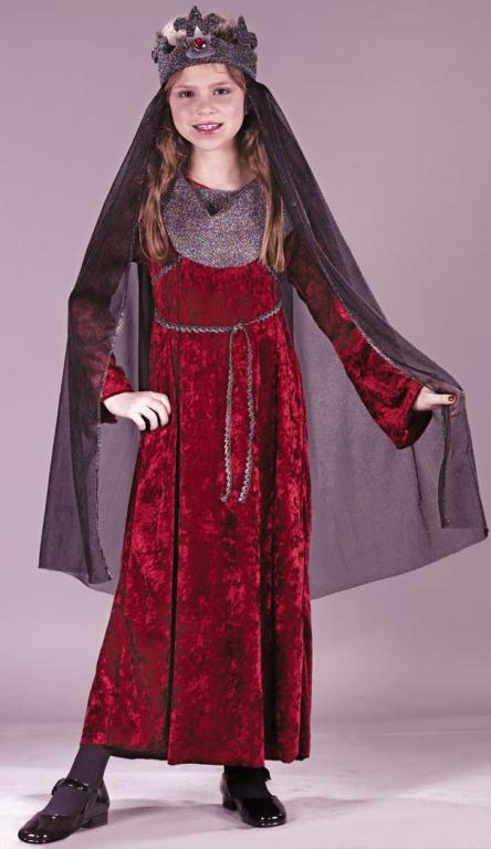 Medieval Renaissance Queen Child Costume