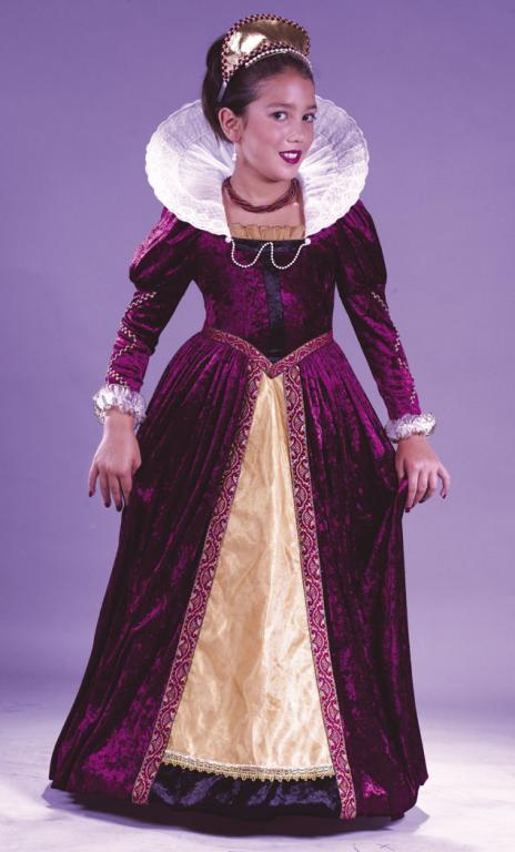 Elizabethan Queen Child Costume