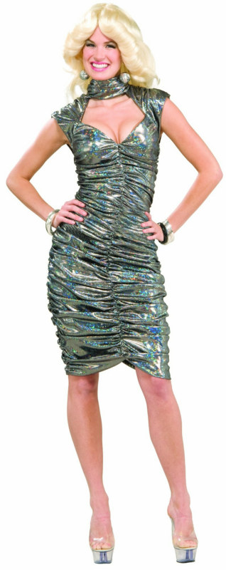 70s Disco Queen Metallic Adult Costume