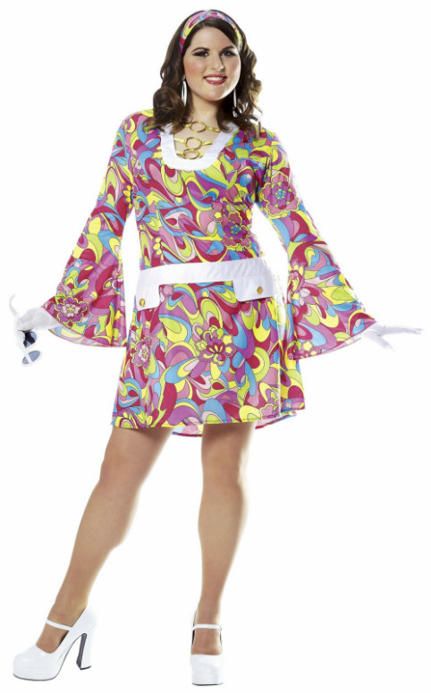 Groovy Chic Plus Adult Costume - Click Image to Close