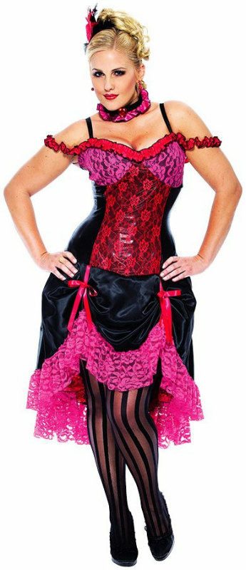 Madame Can Can Adult Plus Moulin Rouge Costume