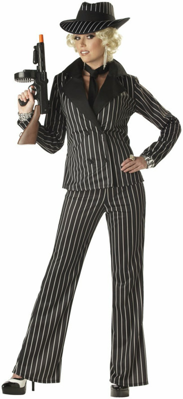 Gangster Lady Adult Costume