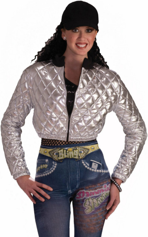Hip Hop (Silver) Quilted Adult Jacket