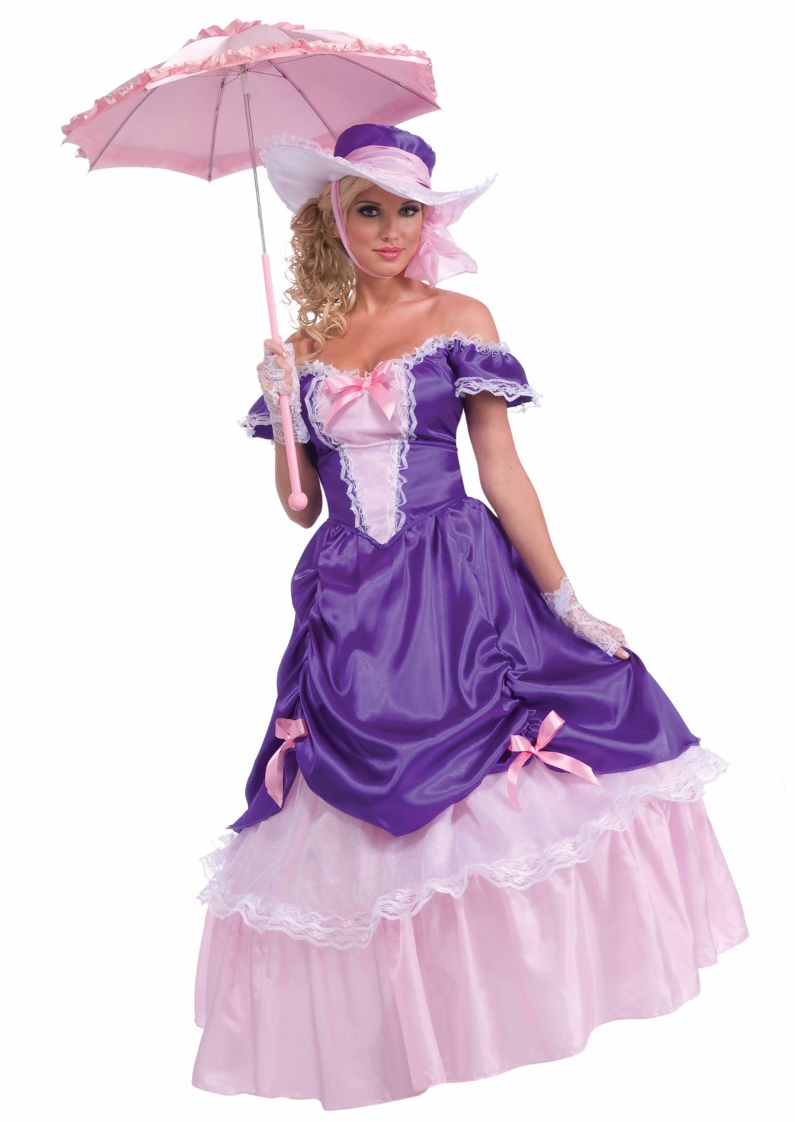Blossom Southern Belle Adult Costume. This costume includes a dress, ...