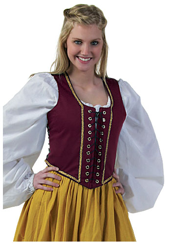 Burgundy Lock Lace Bodice