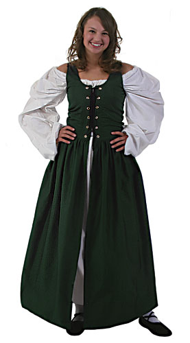 Plus Size Green Irish Renaissance Dress - In Stock : About ...