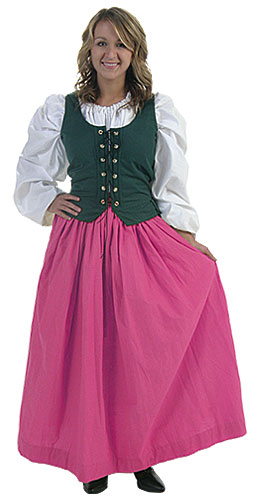 Plus Size Pink Peasant Skirt