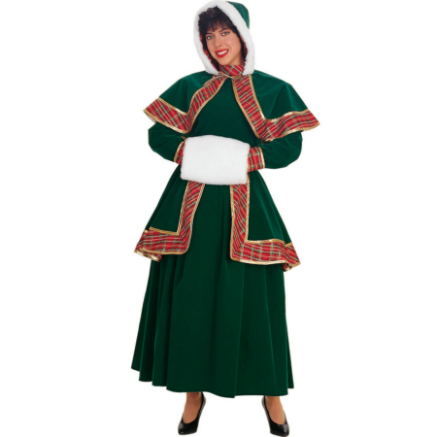 Long Victorian Christmas Caroler Adult Costume