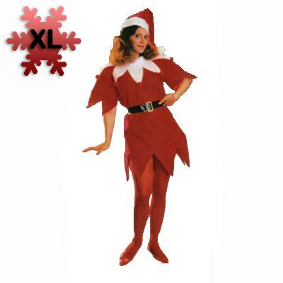 Miss Santa Tunic Set XL Costume