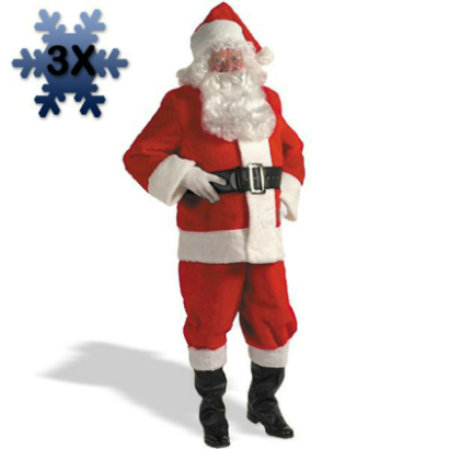 Kris Kringle Suit 3X Costume
