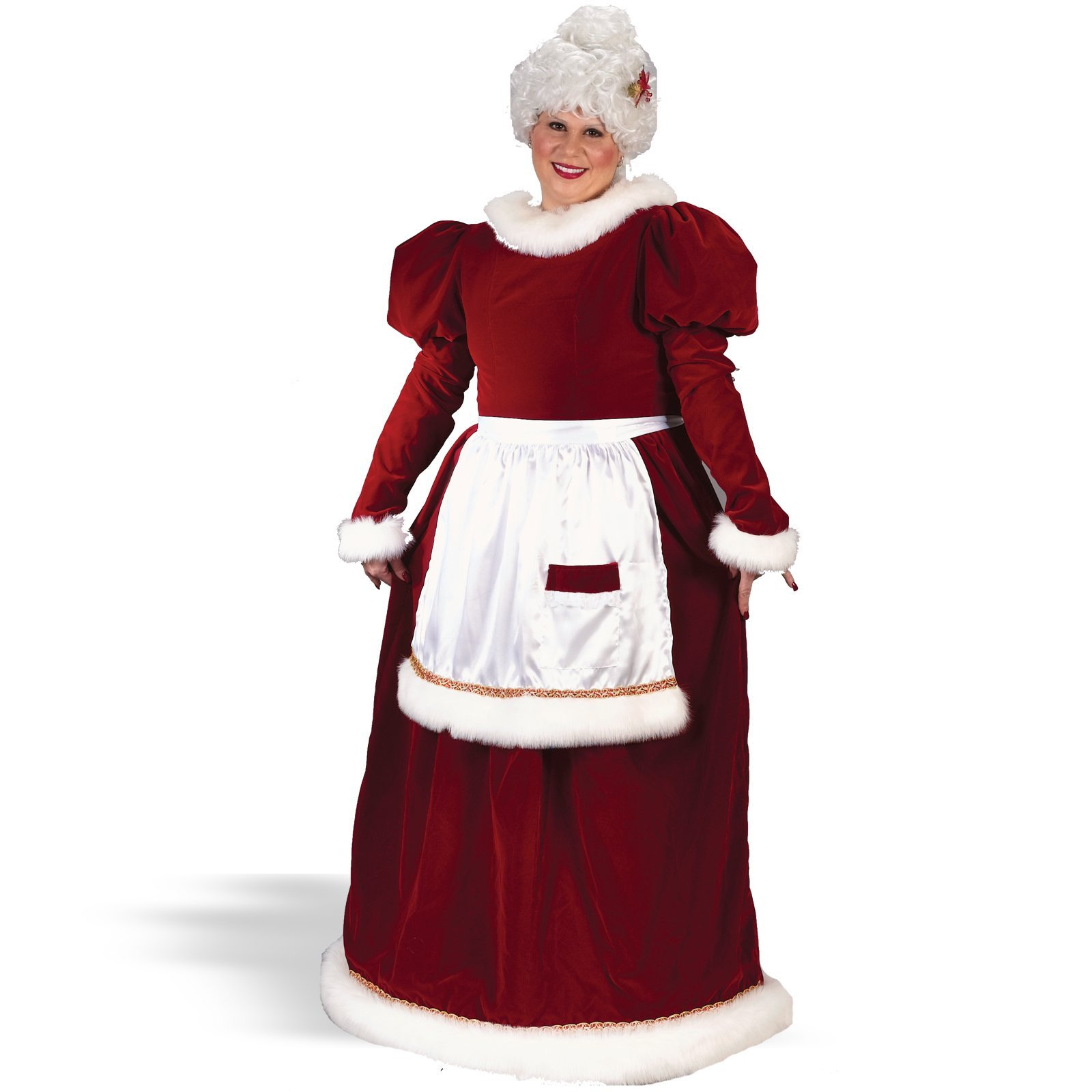 Velvet Mrs. Claus Plus Adult Costume