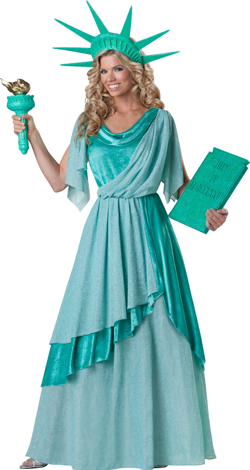 Lady Liberty Elite Collection Adult Costume - Click Image to Close
