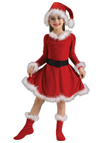Child Mrs. Claus Costume