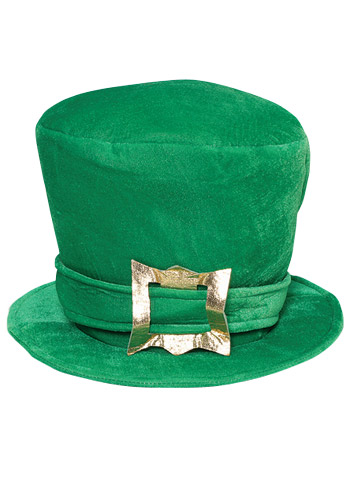 Green Velvet Top Hat