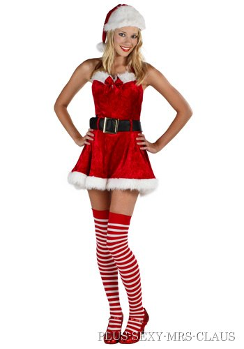 Plus Size Sexy Mrs Claus Costume