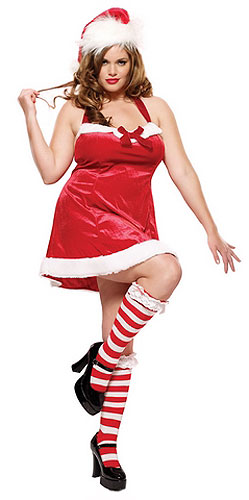 Plus Size Sexy Santa's Helper Costume