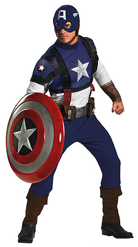 Prestige Adult Captain America Costume