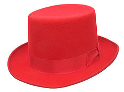 Wool Red Top Hat