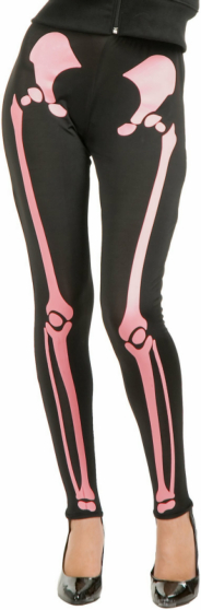 Skeleton Leggings (Pink) Adult