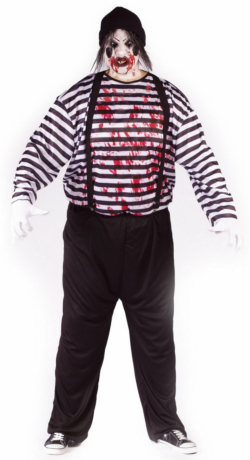 Maniacal Mime Adult Plus Costume