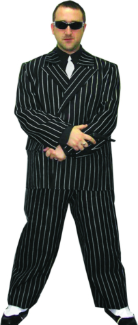 Pinstripe Gangster Adult Costume