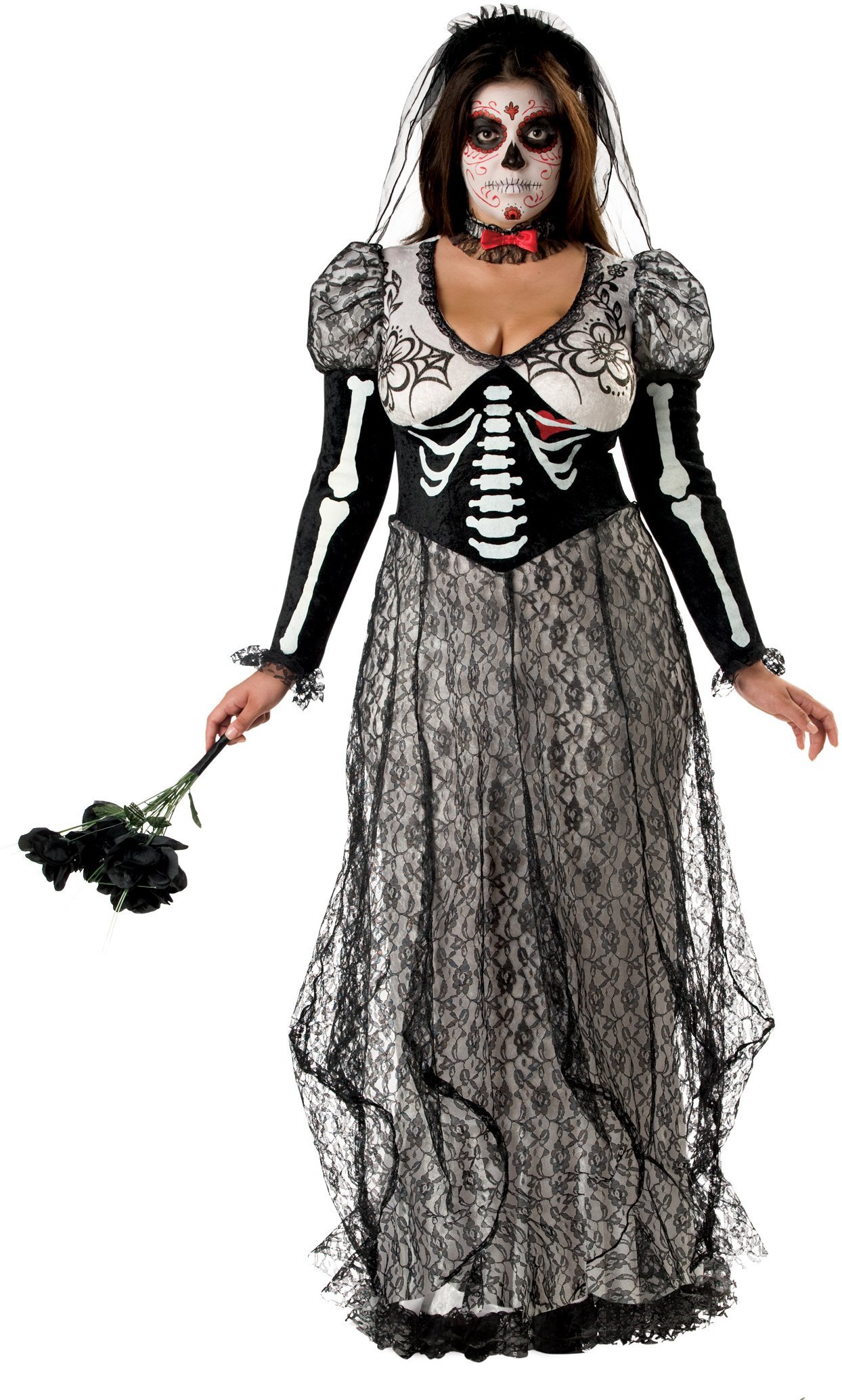 Day Of The Dead Bride Plus Adult Costume