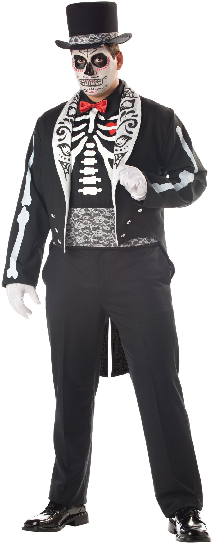 Day Of The Dead Groom Plus Adult Costume
