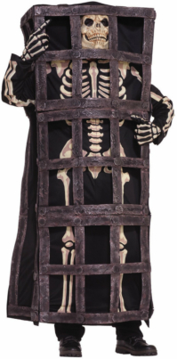 Skeleton in Cage Adult Costume