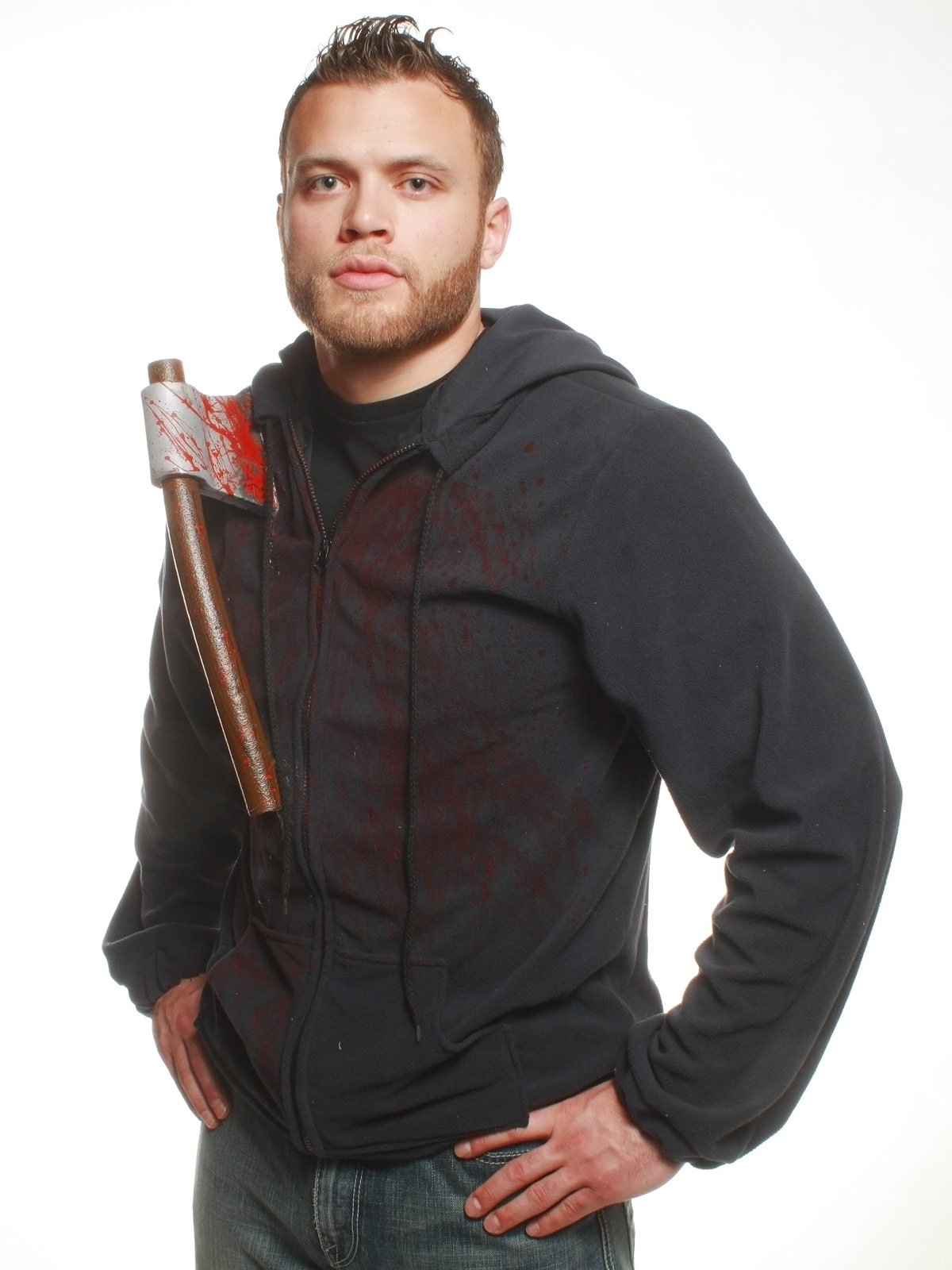 Hoodie with Bloody Axe Adult Costume